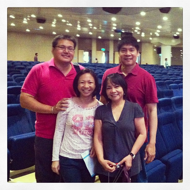 With Ninong Butch and Ninang Emily, visiting this year from Canada where a CCF community is also beginning to thrive.
