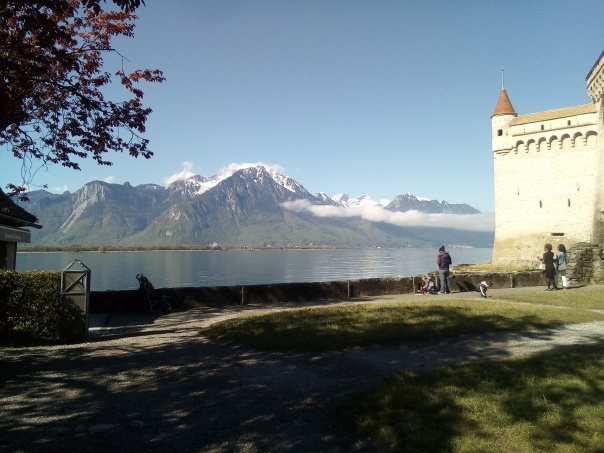 alps castle lake geneve