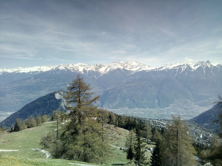 ovronnaz view of alps